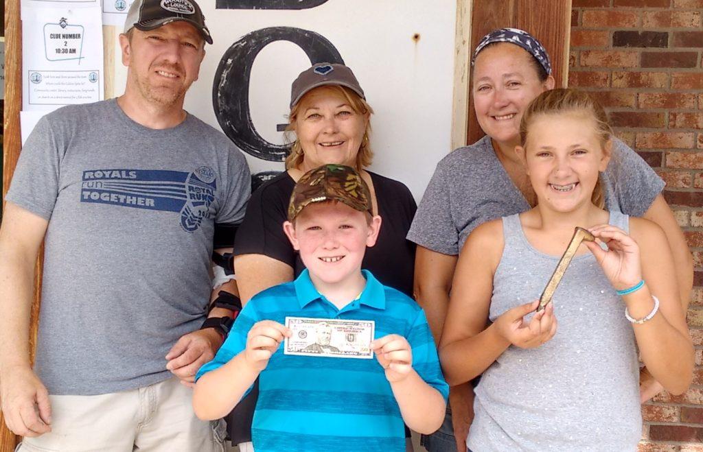 Golden Spike medalion hunt winner, Gandy Dancer Days, Webster, WI